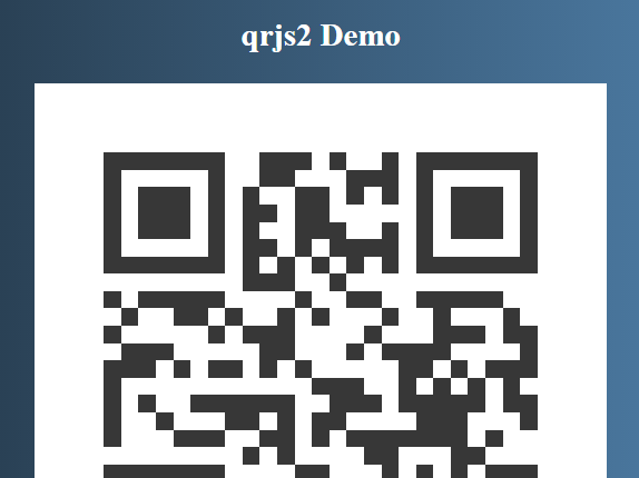 Customizable QR Code Generator In Vanilla JavaScript – qrjs2