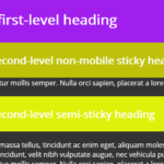 Stacked Sticky Elements In Pure JavaScript – stickystack