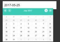 Infinite Scrolling Date Picker UI