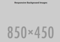 Responsive Background Images