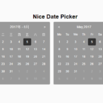 Minimal Calendar Date Picker With Pure JS – niceDatePicker