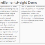 Responsive Equal Height Columns In Pure JavaScript