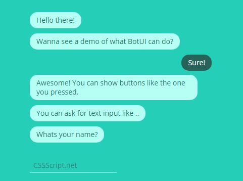 Minimal JavaScript Chat Bot Framework – BotUI