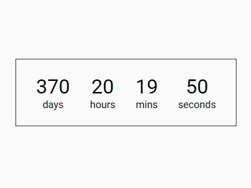 Easy Datetime Countdown Timer – Countdown.js