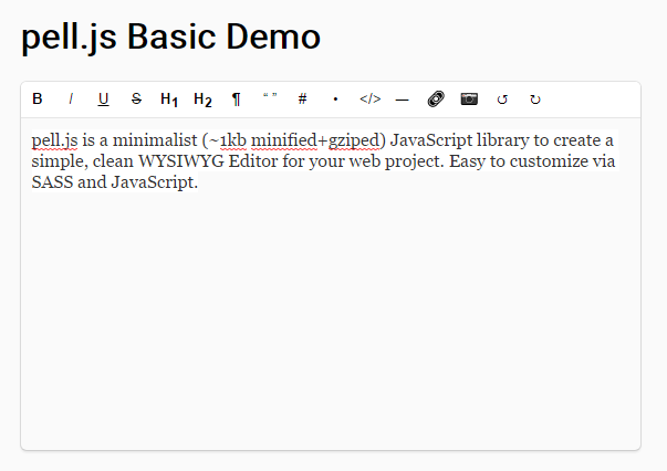Minimalist WYSIWYG Editor – pell.js