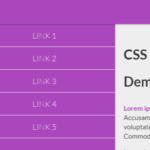 CSS Only Mobile Push Menu