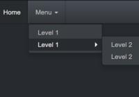 Multi-level Bootstrap Navbar In Pure CSS