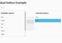 dual-listbox Example