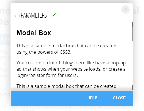 Mobile-friendly Modal Window In Pure CSS – modal_box