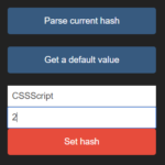 Set And Get URL Hash With JavaScript – urlhash.js