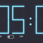 12h/24h Digital Clock In JavaScript And CSS