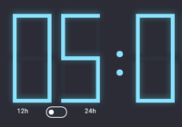 12h 24h Digital Clock In JavaScript And CSS