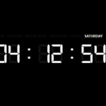 Minimal Digital Clock With JavaScript And CSS