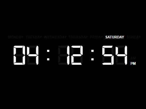 Minimal Digital Clock With JavaScript And CSS
