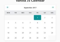 Vanilla JS Calendar