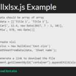 XLSX & Zip Archive Generator With JavaScript – NullXlsx