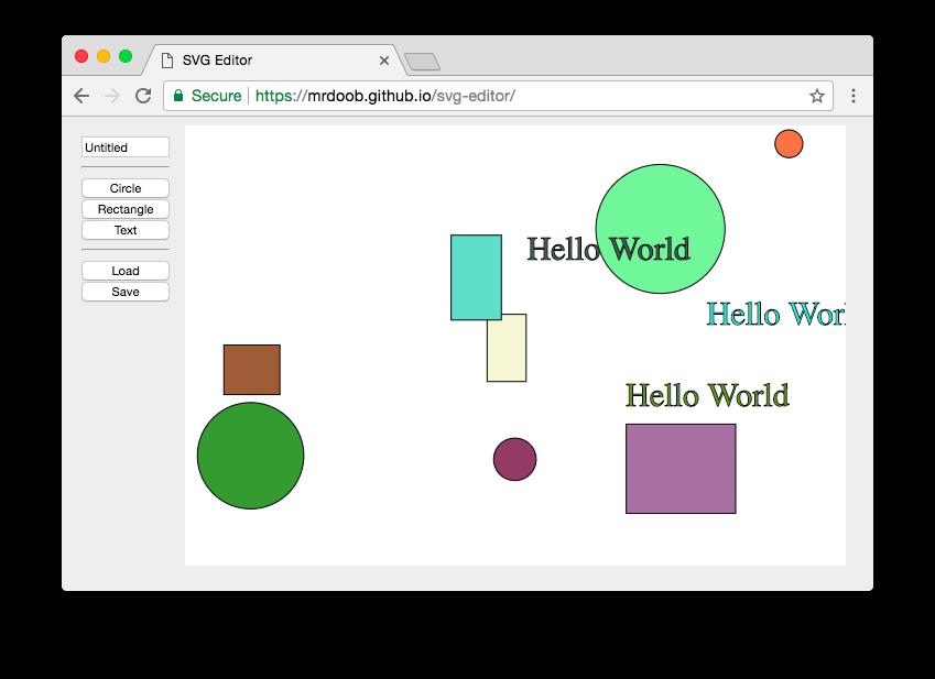 Minimal SVG Editor In Pure JavaScript