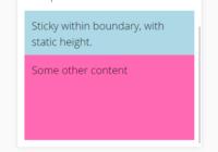 Mobile-friendly Sticky Bottom JavaScript Library