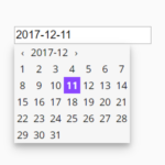 Basic Date Picker For Input Field – datepicker.js
