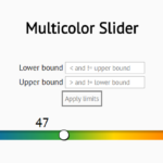 Gradient Slider Control In Pure JavaScript – slider.js