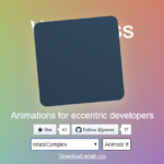 Weird CSS3 Animation Library – Woah.css