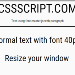 Resize Text Fonts Based On The Screen Width – font-master