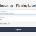 Create Bootstrap 4 Form Controls With Floating Labels