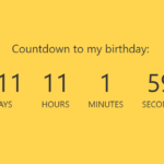 Simple Countdown Timer In Vanilla JavaScript – ysCountDown.js