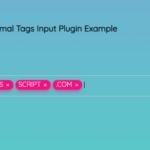 Minimal Tags Input Plugin With Vanilla JavaScript – tags-input