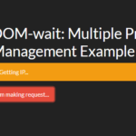 Multiple Progress Loading Management In Vanilla JavaScript – DOM-wait