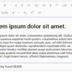 Simple Extensible WYSIWYG Editor – ysEditor.js