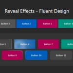 Fluent Design Button Hover & Click Effects – fluent-reveal-effect