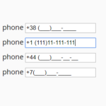 Basic Phone Input Mask With Pure JavaScript – phone-mask