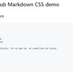 CSS Library To Replicate The GitHub Markdown Style – markdown.css