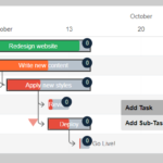 Simple Interactive Gantt Chart Creator