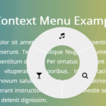 Touch-enabled Radial Context Menu In Pure JavaScript – radialMenu