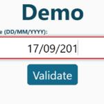 Validate Date In Input Field – validate