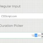 Easy Duration Picker In Vanilla JavaScript – html-duration-picker.js
