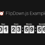 Retro Flipping Countdown Timer In JavaScript – flipdown.js
