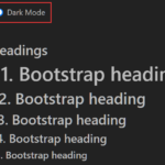 Dark Mode Switcher For Bootstrap 4