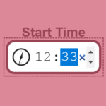 Time Picker Input With An Animated Clock