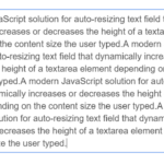 Auto Increase The Height Of Texarea Element While Typing