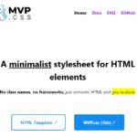Minimalist CSS Framework For Web Design – MVP.css