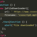 JavaScript File Downloader With Promise Support