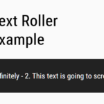 Scroll Text Infinitely – text-roller