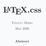 Create LaTeX Style HTML Document Using LaTeX.CSS
