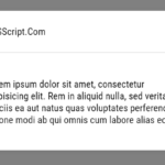 Lightweight Vanilla JavaScript Modal Window