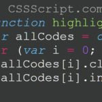 Tiny JavaScript Syntax Highlighter