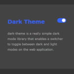 Toggle Between Dark/Light Modes Using CSS Variables – dark-theme