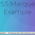 Display RSS Feeds As A Horizontal Scroller – rss-marquee